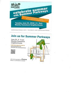 Summer Parkways 2016 postcard